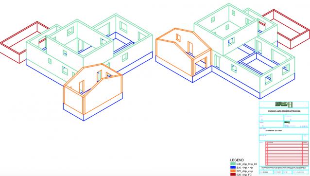 autoconstruction: plan d'exécution vue 3D