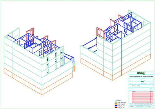 Construction modulaire: plans d'exécution vue 3D